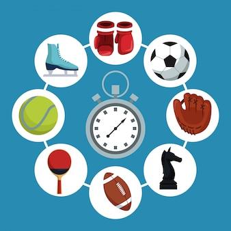 Chronometer mit ikonenelementen tragen in den kreisrahmen herum zur schau