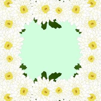 Chrysantheme-blumen-grenze