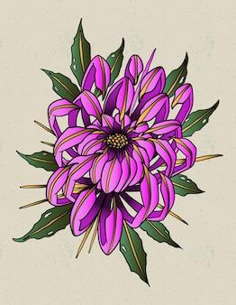 Chrysantheme tattoo alte schule