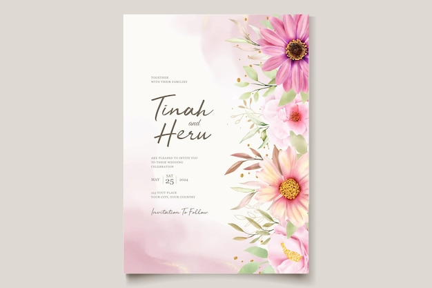 Chrysanthemum hochzeit einladungskartenset
