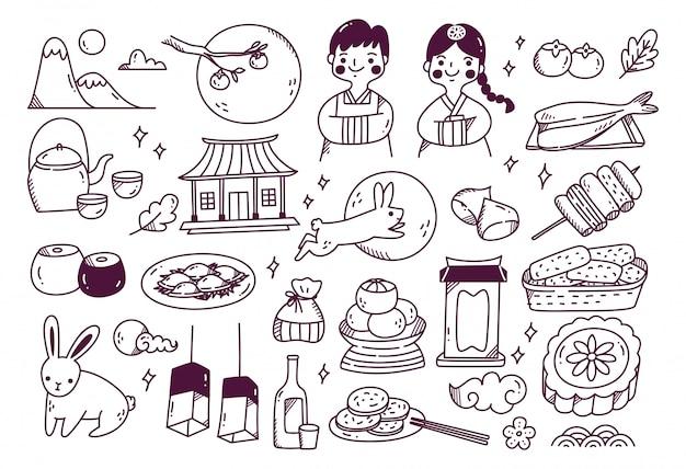 Chuseok festival gekritzel