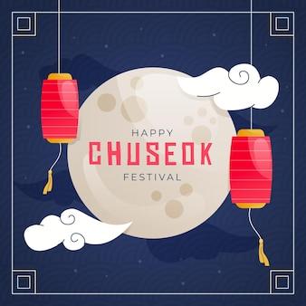 Chuseok festival illustrationsstil