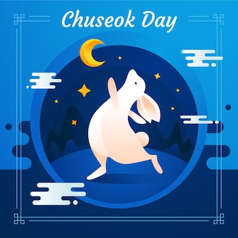 Chuseok festival illustrationsthema