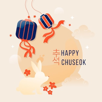Chuseok-konzept mit flachem design