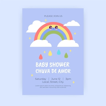 Chuva de amor babypartyeinladungsschablone