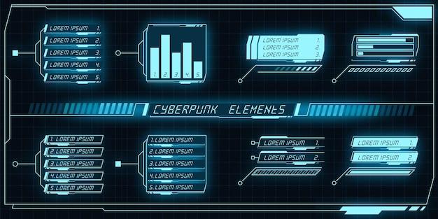 Ciberpunk-elemente-set