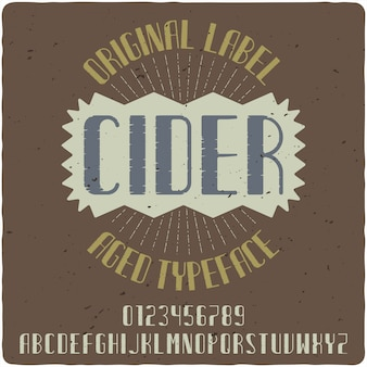 Cider vintage schriftzug