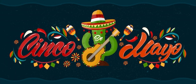 Cinco de mayo banner. urlaub in mexiko