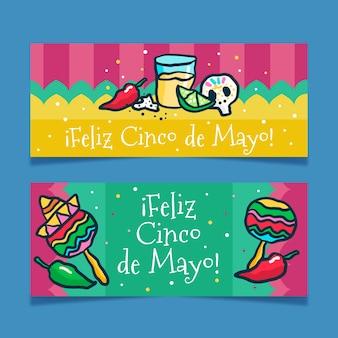 Cinco de mayo banner zeichnen