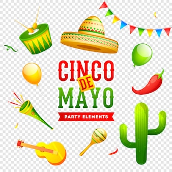 Cinco de mayo feier banner oder poster design