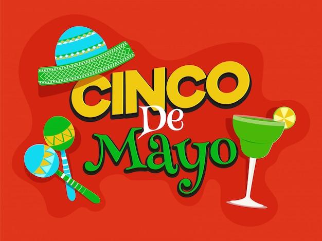 Cinco de mayo feier poster oder flyer