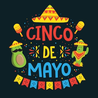 Cinco de mayo festivalplakat 2