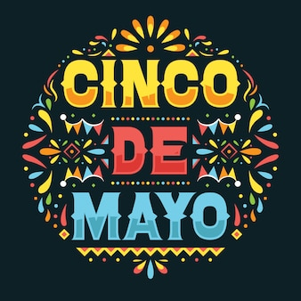Cinco de mayo festivalplakat