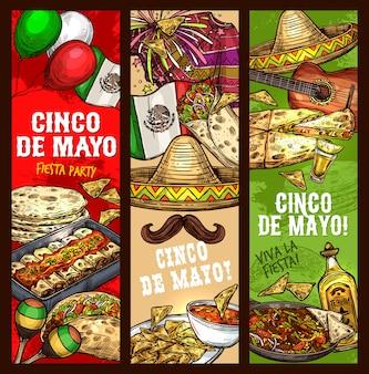 Cinco de mayo fiesta, mexikanische feiertagsfeier