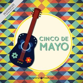Cinco de mayo gitarre hintergrund