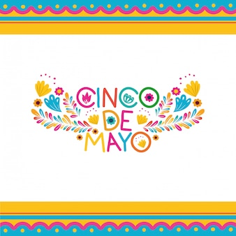 Cinco de mayo label isoliert symbol