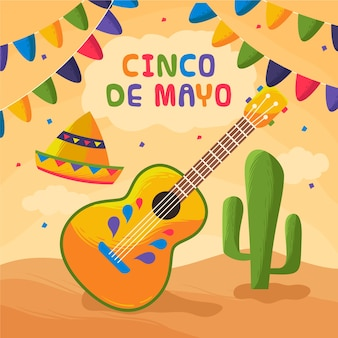 Cinco de mayo mit dekoration