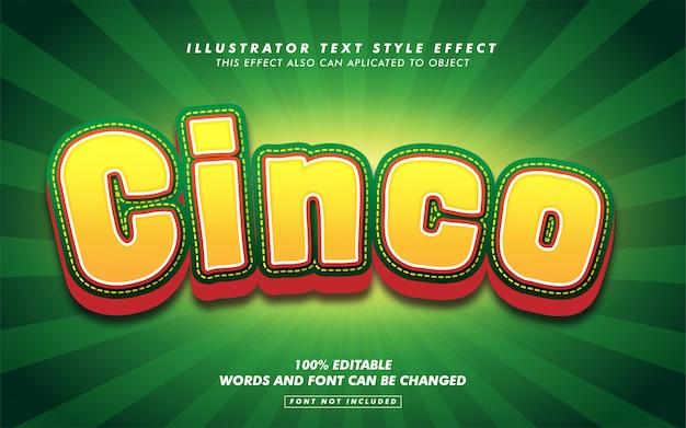 Cinco de mayo text style effekt modell