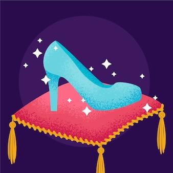 Cinderella glasschuhkonzept