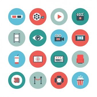 Cinema icon-sammlung