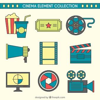 Cinema zubehör mit linearen stil