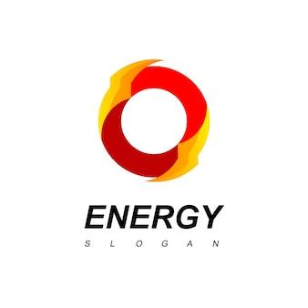 Circle thunder bolt, energie-logo
