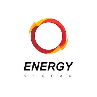 Circle thunder bolt energy logo
