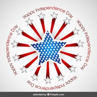 Circular abzeichen der tag der unabhängigkeit