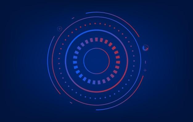 Circular background tech-technologie