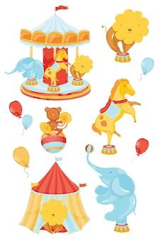 Circus elemente farbelemente
