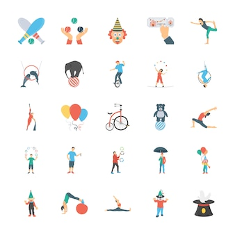 Circus icons pack