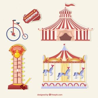 Circus sachen zu packen