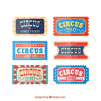 Circus tickets im vintage-stil