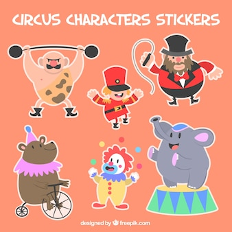 Circus zeichenaufkleber
