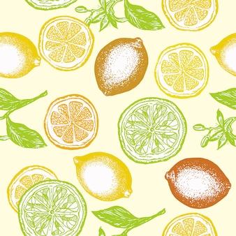Citrus nahtlose muster