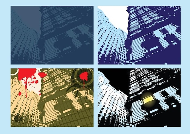 City building flyer vector
