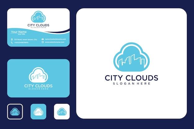 City cloud logo-design und visitenkarte