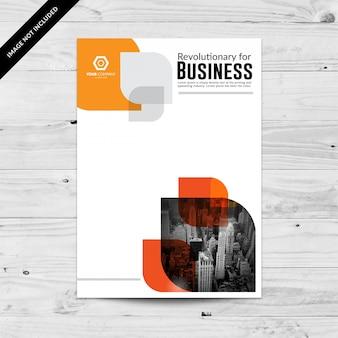 Cityview abstrakte orange business-flyer design-vorlage