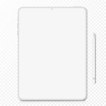 Clay tablet computer - vorderansicht. illustration