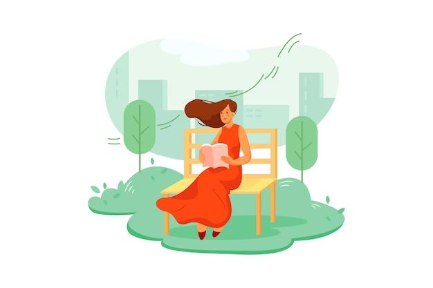 Clean air illustrationskonzept
