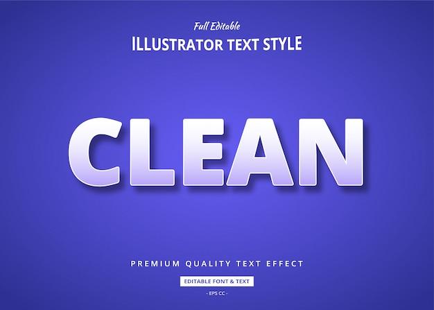 Clean text style-effekt