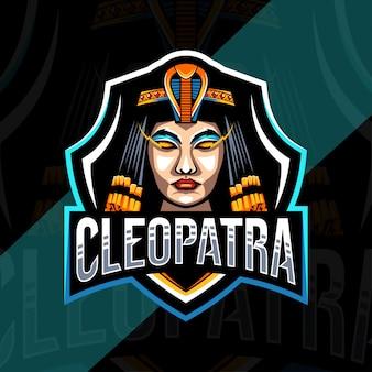 Cleopatra maskottchen logo esport design