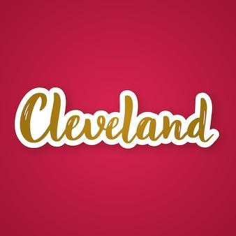 Cleveland handgezeichneter schriftzug