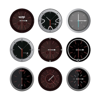 Clock-designs kollektion