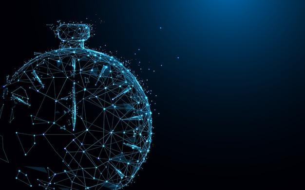 Clock form linien und polygonal