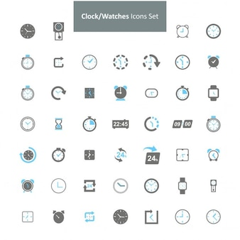 Clock uhren-icon-set