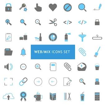 Clock uhren-icon-set