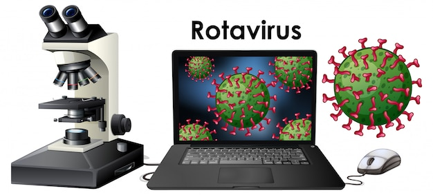 Close up isoliertes objekt des virus rotavirus