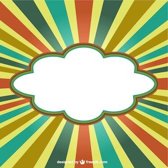 Cloud-banner auf retro-hintergrund