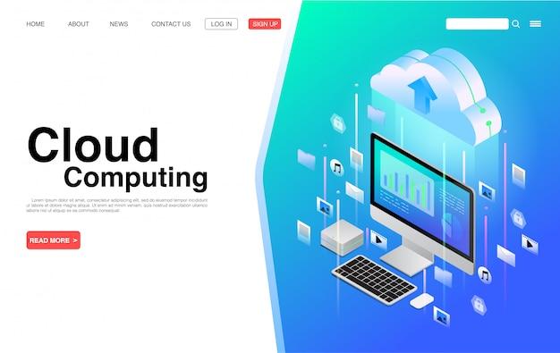 Cloud computing-dienste und -technologie.